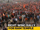 "Video : At Mega Delhi Rally For Ram Temple, RSS Man Targets ""Those In Power"""