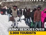 Video : Over 3,000 Tourists Stuck In Sikkim Due To Heavy Snowfall Rescued By Army