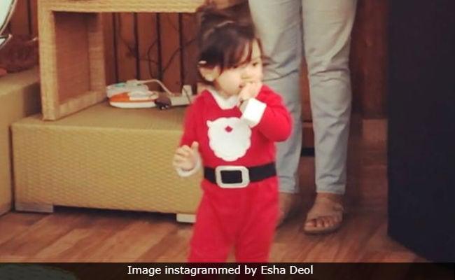 Esha Deol's Daughter Radhya As 'Baby Santa' Will Make You Go Ho Ho Ho!