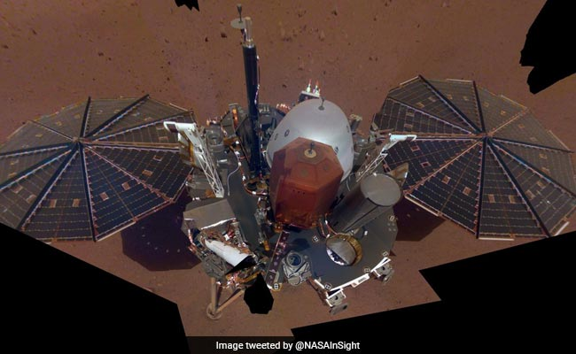 NASA's InSight robotic lander beams first 'selfie' from Mars back to Earth