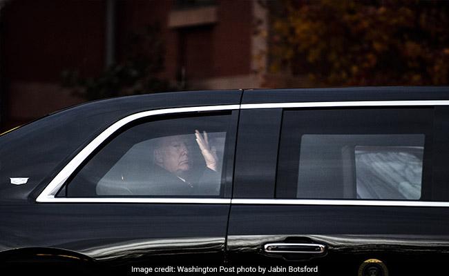 Trump's 250 Yard, 8-Vehicle Motorcade To Greet Bush Jr Across The Street