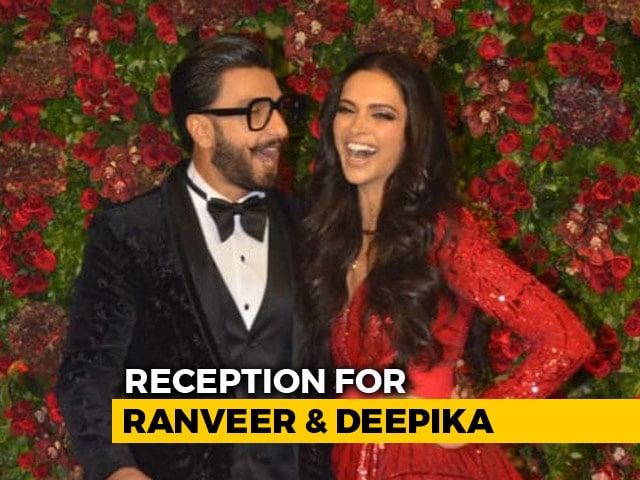 Video : Deepika Padukone And Ranveer Singh's Reception Was A Starry Affair