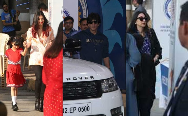 Shah Rukh Khan, Aishwarya Rai Bachchan And Karisma Kapoor Attend Their Kids' School Event