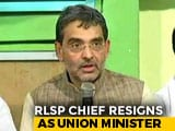 Video : Upendra Kushwaha, BJP's Sulking Bihar Ally, Resigns As Union Minister