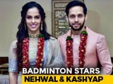Video : Saina Nehwal, Parupalli Kashyap Get Married, Announce On Twitter