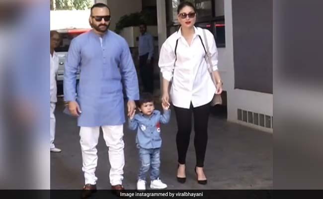 तैमूर अली खान का पापा-मम्मी के साथ दिखा Cute अंदाज, फोटोग्राफर्स भी कहने लगे तैमूर-तैमूर...देखें Video