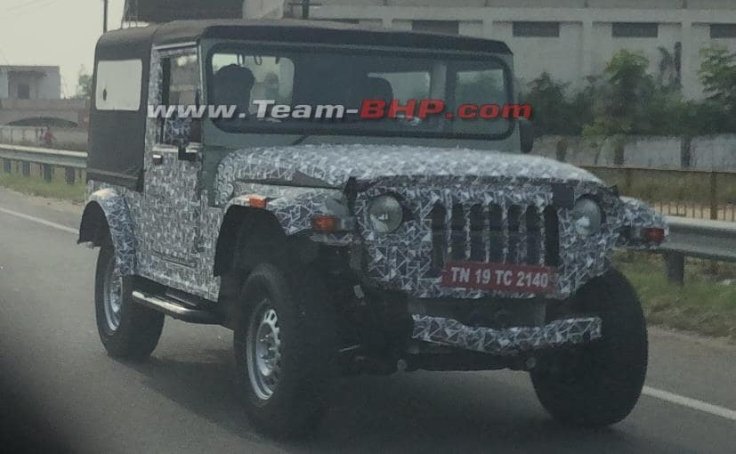 The production model of the new Mahindra Thar is not likely to reveal itself before 2020