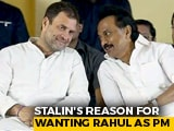 "Video : ""Rahul Gandhi-For-PM Job Because..."": DMK's Stalin Explains Proposal"