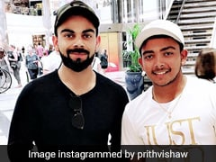 Prithvi Shaw Celebrates India's Win With Virat Kohli And Anushka Sharma