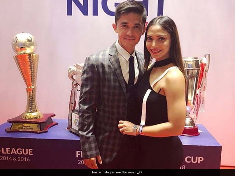 "Watch: Sunil Chhetri, Wife Celebrate Marriage Anniversary With A Few ""Keepy-Uppies"""
