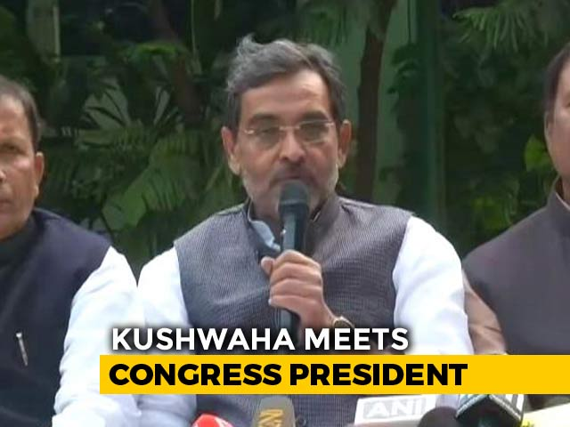 "Video : ""Betrayed By You"": Ally Upendra Kushwaha Quits As Minister, Writes To PM"