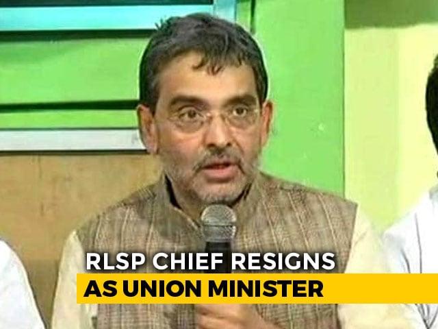 Video : Upendra Kushwaha, BJP's Sulking Bihar Ally, Resigns As Union Minister