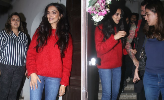 5 Pretty Red Sweaters To Stay Snug Like Deepika Padukone