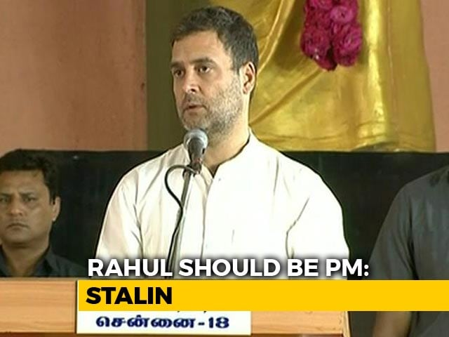 Video : Opposition Disagrees With MK Stalin Backing Rahul Gandhi For PM: Sources