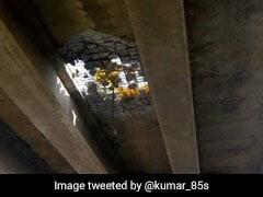 4-Feet Hole Appears On Flyover Built Last Year In Gurugram, Traffic Hit