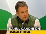 "Video : ""Why Did Anil Ambani Get Offset Clause?"" Asks Rahul Gandhi On Rafale"