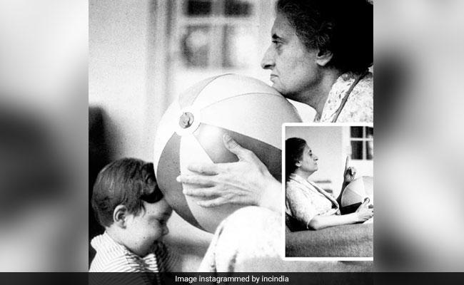 Election Results 2018: राहुल गांधी ऐसे बिताते थे इंदिरा गांधी के साथ समय, जीत पर कांग्रेस ने शेयर की तस्वीरें