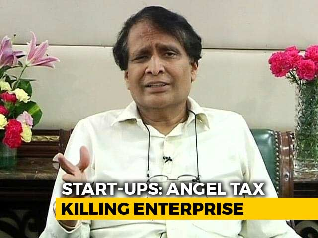 Video : Start-Ups Troubled By Angel Tax, Suresh Prabhu To Take Up Issue