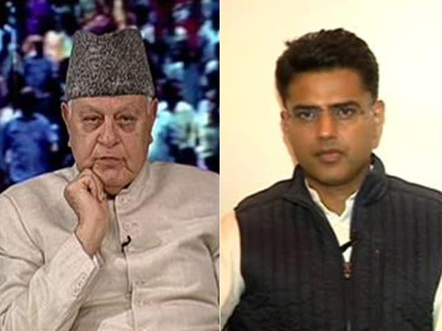 Video : When Sachin Pilot And Farooq Abdullah Met On NDTV Show
