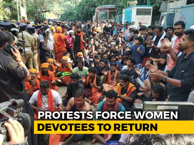 Video : Women Evicted From Sabarimala Base Camp Amid Protests