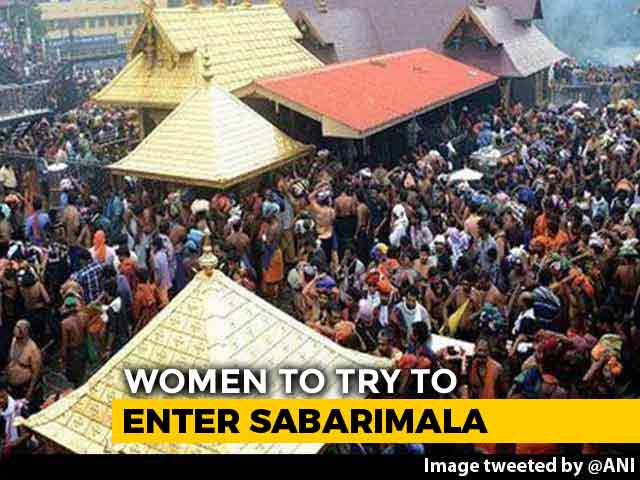 Video : 50 Women Will Try To Enter Sabarimala Temple On Sunday