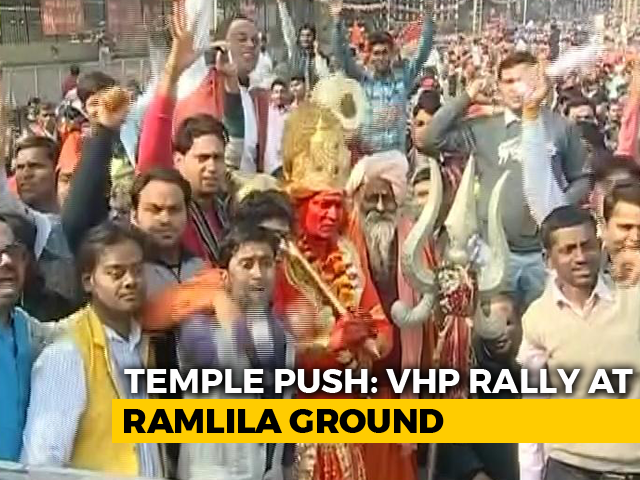 Video : Right-Wing Rally In Delhi Today To Press For Ram Temple In Ayodhya