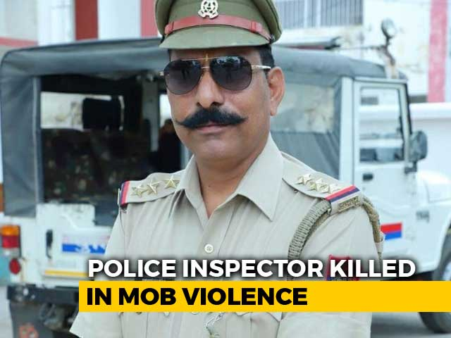 Video : Cop Among 2 Killed As Mob Targets Police In UP Over Cow Slaughter