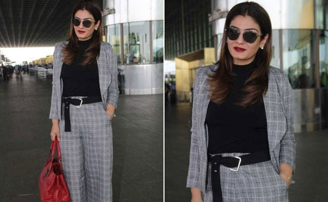 Here's How To Get Raveena Tandon's Chic Checked Look