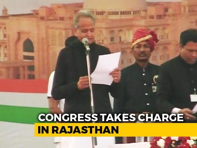 Video : Ashok Gehlot Takes Oath As The Chief Minister Of Rajasthan