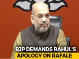 "Video : ""Who Is Your Source?"" Amit Shah Targets Rahul Gandhi After Rafale Verdict"