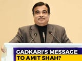 "Video : Nitin Gadkari's Words On ""Taking Responsibility"" Seem To Prod Amit Shah"