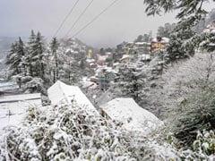 Shimla Receives Season's First Snowfall, Heavy Snow In Manali Too