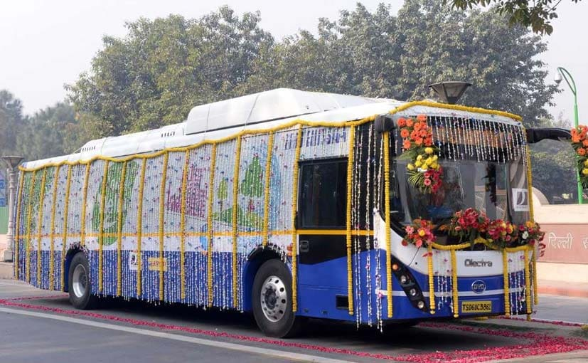 The Olectra-BYD eBuzz K9 electric bus has a range of 300 km on a single charge