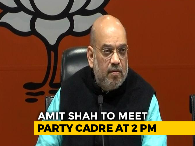 In Marathon Meet Today, Amit Shah To Discuss BJP's Election Rout