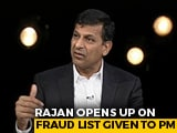 Video : Raghuram Rajan Opens Up On Fraud List Given To PM's Office