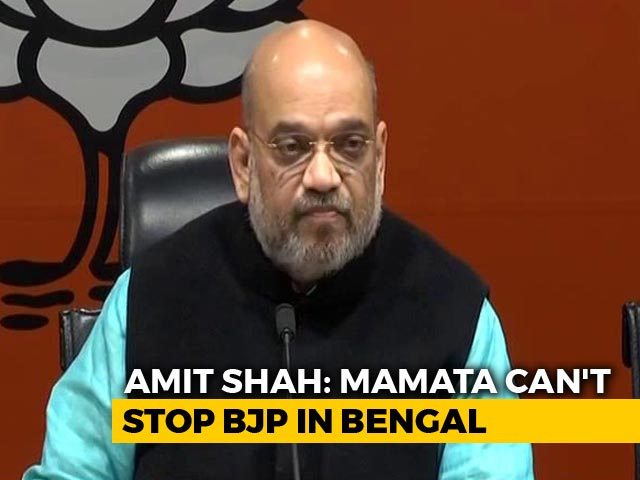 "Video : Amit Shah Targets Mamata Banerjee, Says ""Nobody Can Stop Rath Yatra"""