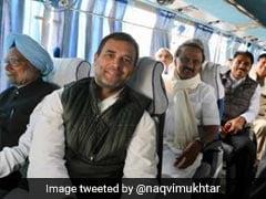 केंद्रीय मंत्री मुख्तार अब्बास नकवी ने ट्विटर पर तस्वीर शेयर कर लिखा- बचा ले मौला-ए-राम, गठबंधन का क्या होगा अन्जाम