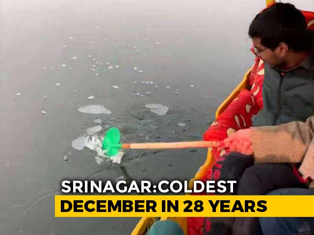 Video : Srinagar Witnesses Coldest Night In 28 Years At Minus 7.6 Degrees
