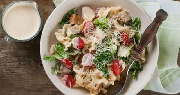 Pasta Salad with Asparagus Dressing