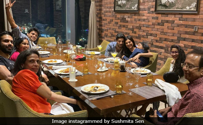 Sushmita Sen Celebrated Her Dad's Birthday And Yes, Rohman Shawl Was There