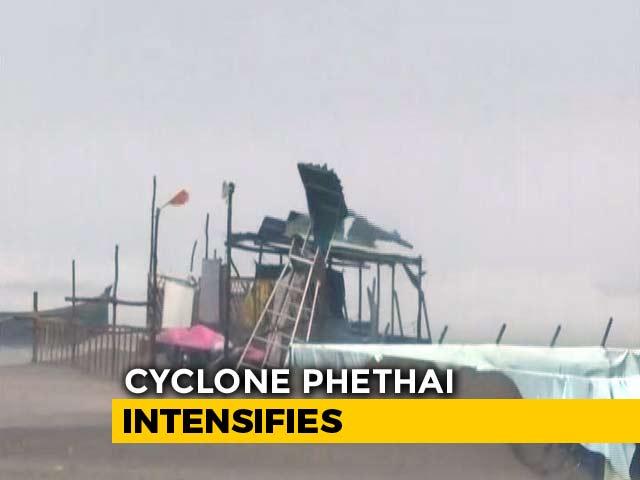 Video : Cyclone Phethai Makes Landfall At Andhra Pradesh's Katrenikona