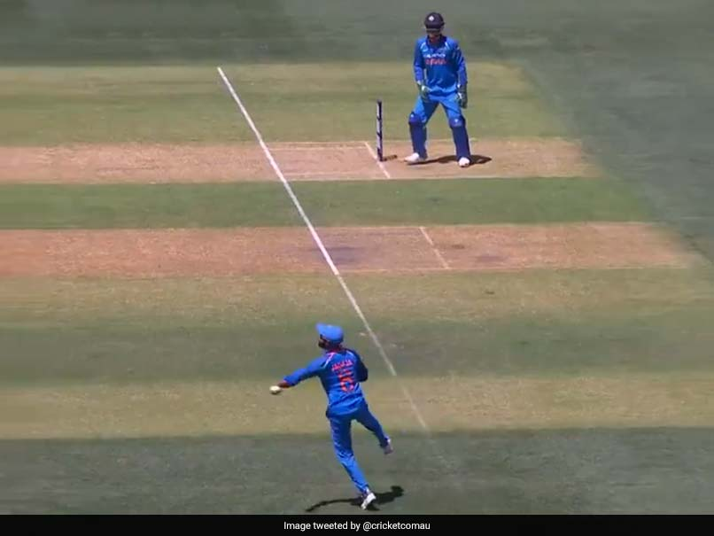 India vs Australia, 2nd ODI: How Usman Khawaja Run Out With A Sharp Throw By Ravindra Jadeja,  Watch Video