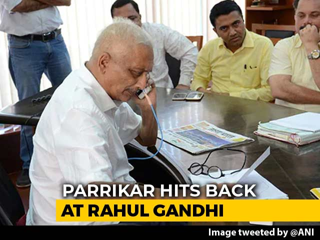 "Video : ""Feel Let Down"": Manohar Parrikar's Letter After Rahul Gandhi Visits Him"