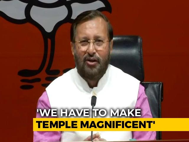 """Video : In Ayodhya Request, A BJP Move """"Without Touching Dispute Site"""""""