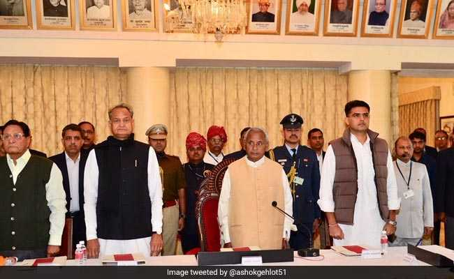 Newly Elected Rajasthan Lawmakers Sworn In
