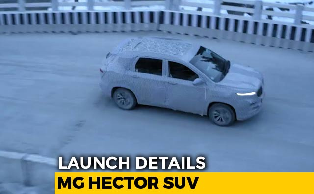 The MG Hector will be launched in India sometime in the middle of 2019