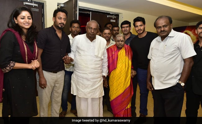 HD Kumaraswamy Watches Son's Film With Family, Criticised By BJP