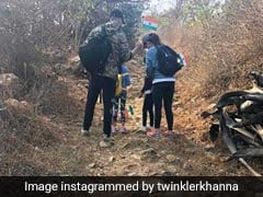 On Republic Day, Akshay Kumar, Twinkle Khanna And Nitara Went For A 'Patriotic Hike'