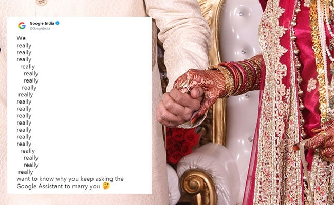 Google Asks Indians Why They Keep Proposing To Google Assistant. See Best Replies