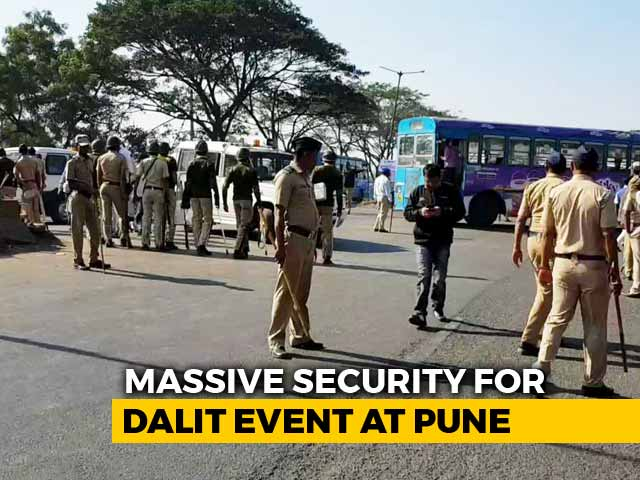 Video : Thousands Of Cops At Koregaon Bhima For Mega Dalit Event Today